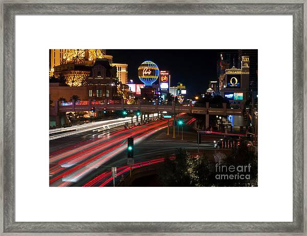 The Las Vegas Strip Framed Print by Eddie Yerkish