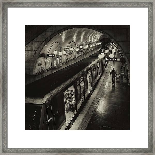 The Last Metro Framed Print