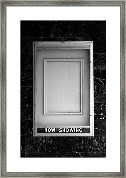 The Last Picture Show Framed Print by Vince  Risner