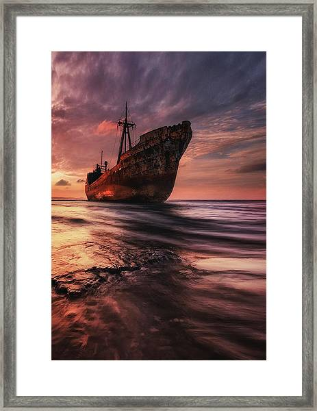 The Last Port Framed Print by