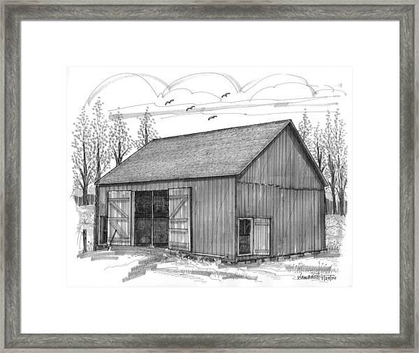 The Lawrence Barn Framed Print
