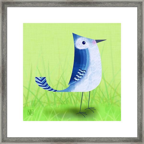 The Letter Blue J Framed Print