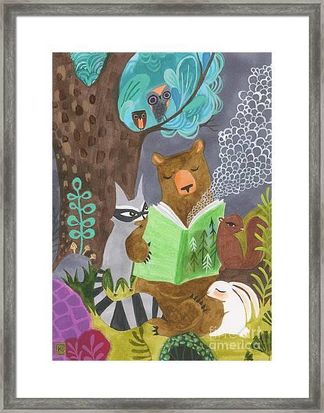 The Libearian Framed Print