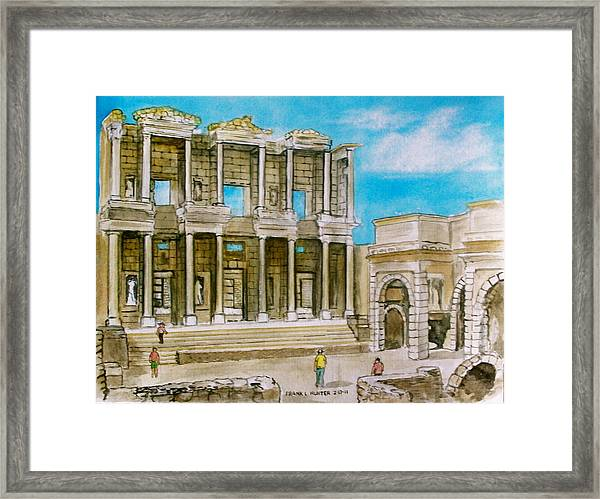 The Library At Ephesus Turkey Framed Print