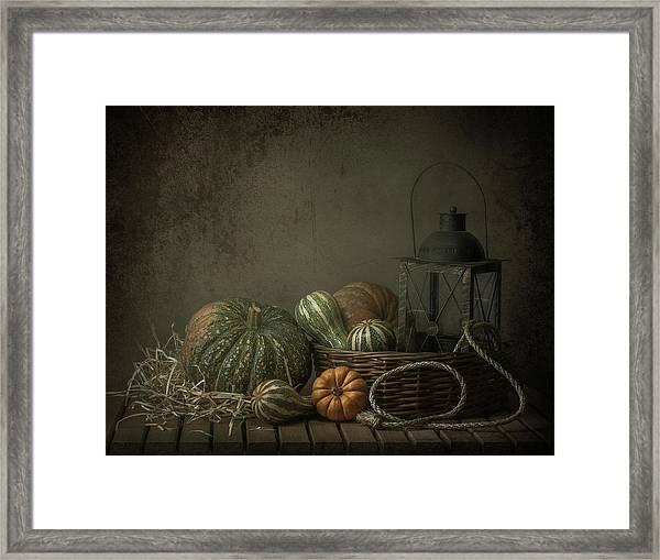 The Light In The Barn Framed Print
