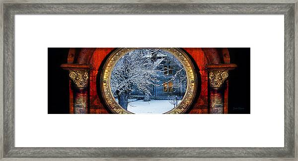 The Light In The Window Framed Print