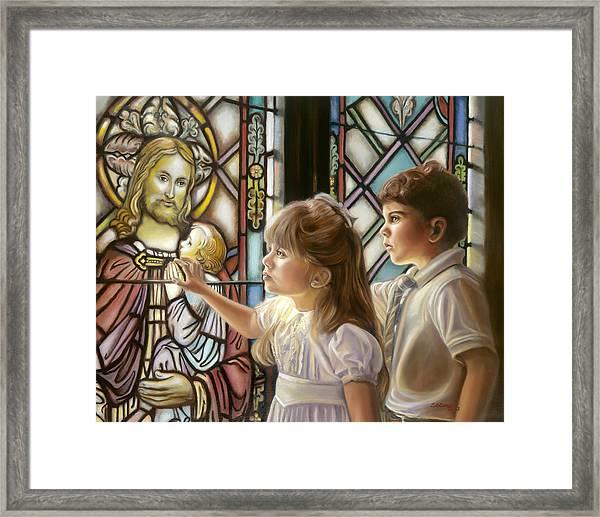 The Light Of Faith Framed Print