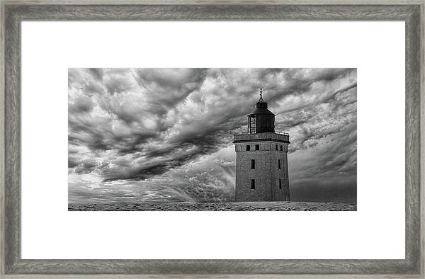 The Lighthouse Mood. Framed Print by Leif L?ndal