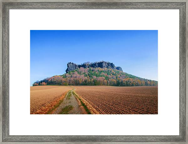 The Lilienstein On An Autumn Morning Framed Print