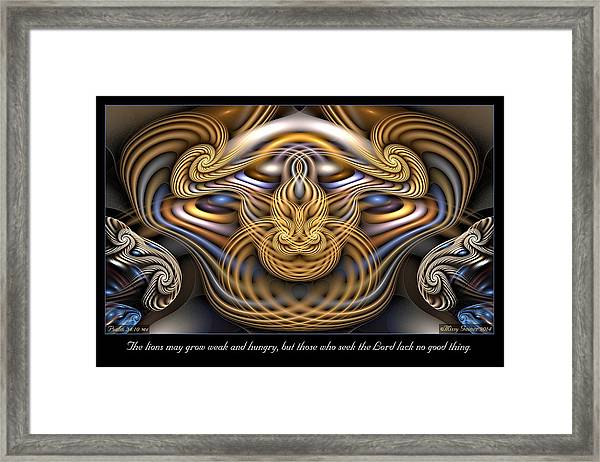 The Lions Framed Print