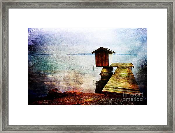 The Little Bath House Framed Print