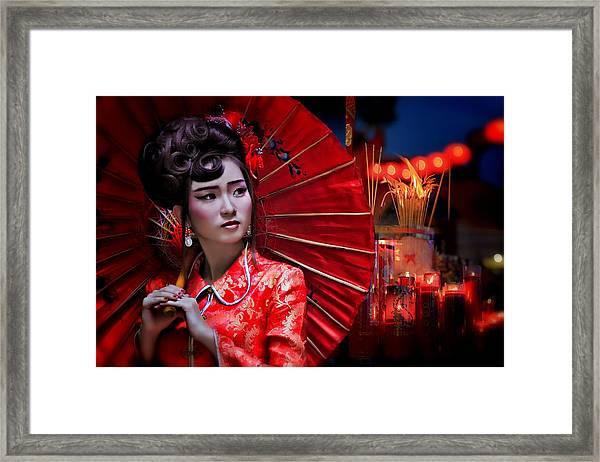 The Little Girl From China Framed Print by Joey Bangun
