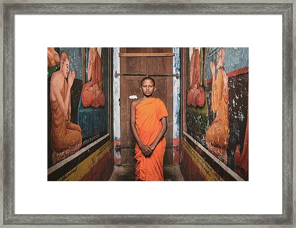 The Little Monk Framed Print by Giacomo Bruno