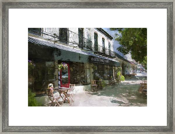 The Little Tuna And Market Framed Print