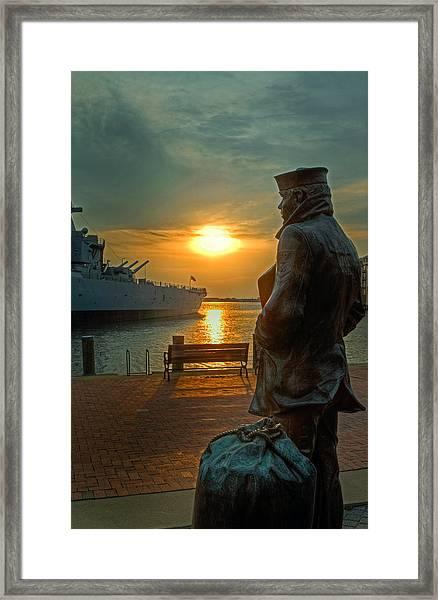 The Lone Sailor Framed Print