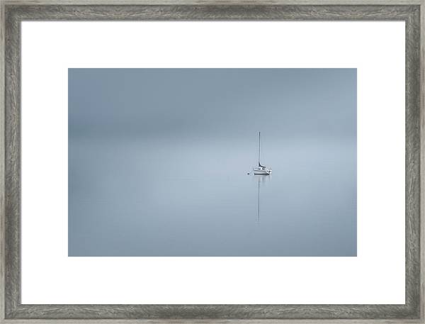 The Lonesome Boatman Framed Print