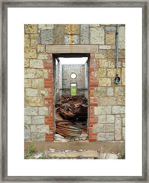 The Long Hallway Framed Print