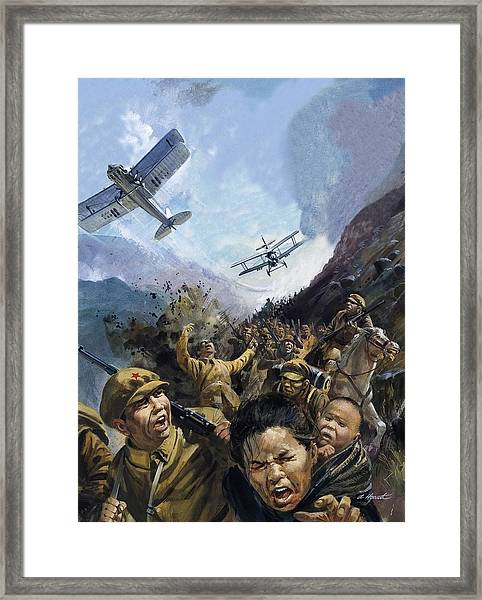 The Long March Framed Print