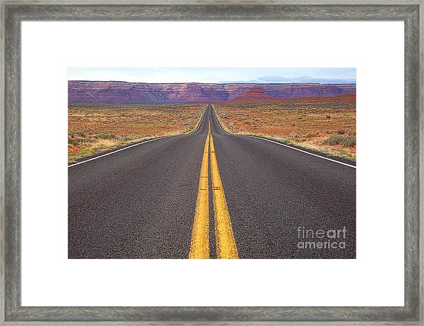 The Long Road Ahead Framed Print