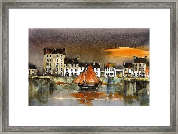 The Long Walk Sunset Galway Citie Framed Print