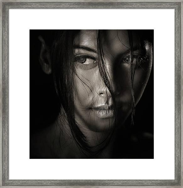 The Look Framed Print
