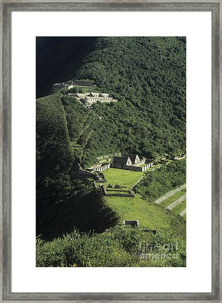 The Lost City Of Choquequirao Framed Print