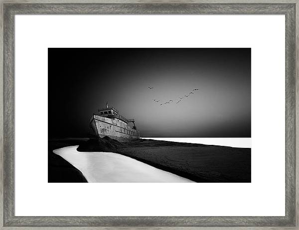 The Lost Ship Framed Print by Sajin Sasidharan