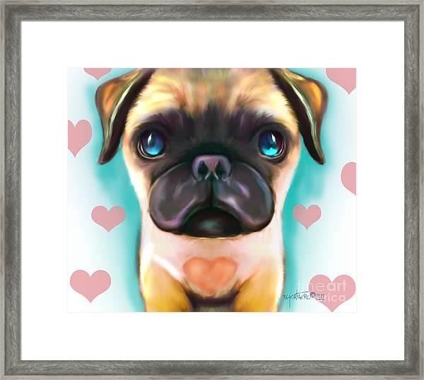 The Love Pug Framed Print