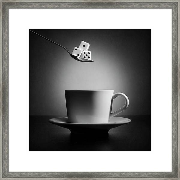 The Lucky Cup Of Coffee (version 2) Framed Print by Victoria Ivanova