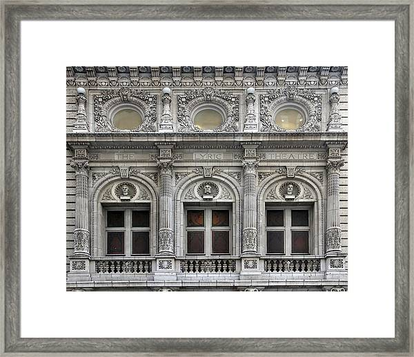 Framed Print featuring the photograph The Lyric Theatre In New York by Bob Slitzan