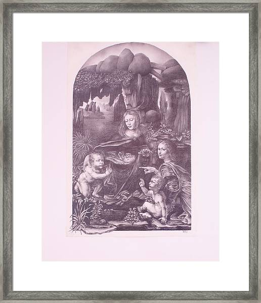The Madonna On The Rocks Framed Print
