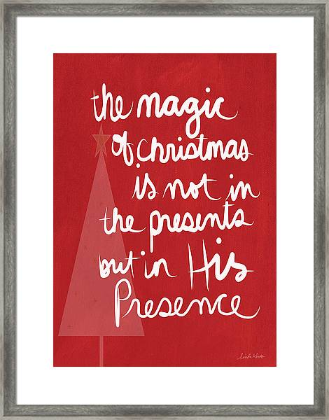 The Magic Of Christmas- Greeting Card Framed Print