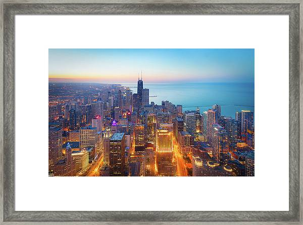 The Magnificent Mile Framed Print