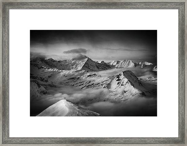 The Man And His Dream Framed Print