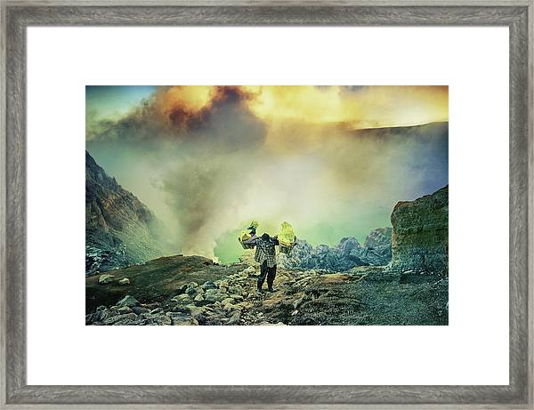 The Man From Green Crater Framed Print by Ismail Raja Sulbar