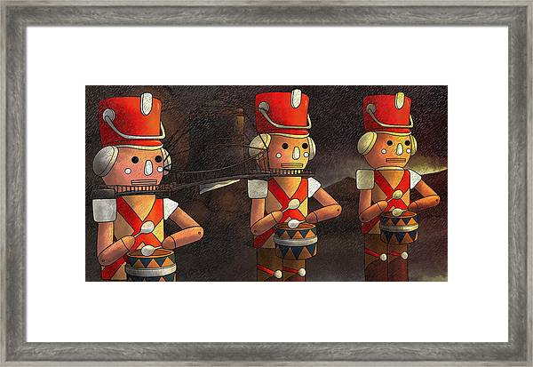 Press Release Christmas Nut Crackers Framed Print