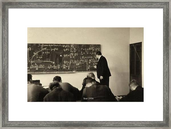 Year 1956 The Math Teacher  Framed Print