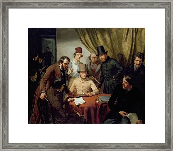 The Members Of The Hamburg Artist's Club Framed Print
