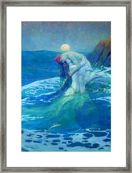 Framed Print featuring the painting The Mermaid by Howard Pyle