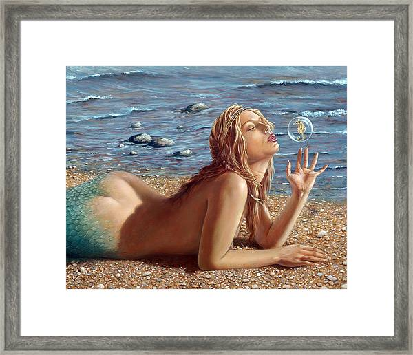 The Mermaids Friend Framed Print