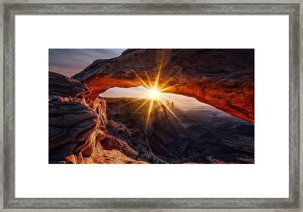 The Mesa Arch Framed Print