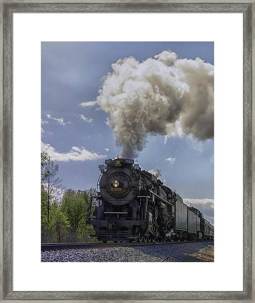 The Mighty 765 Steam Engine Framed Print