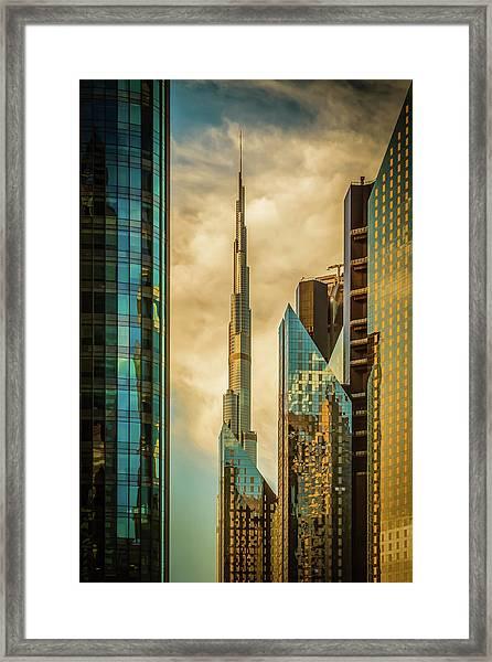 The Mighty burj Framed Print