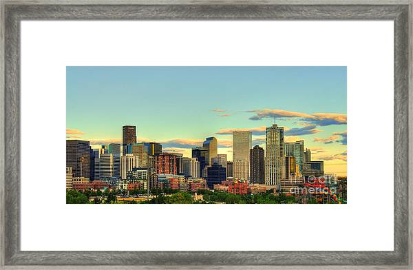 The Mile High City Framed Print