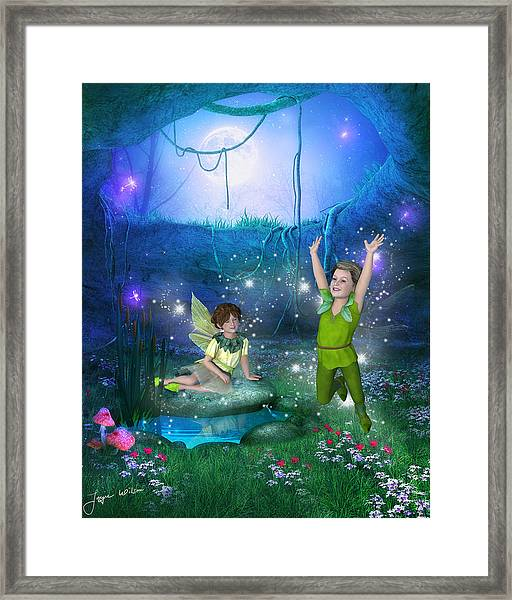 The Moonlight Fairies Framed Print