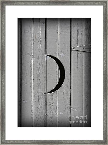 The Moonlight Outhouse Framed Print
