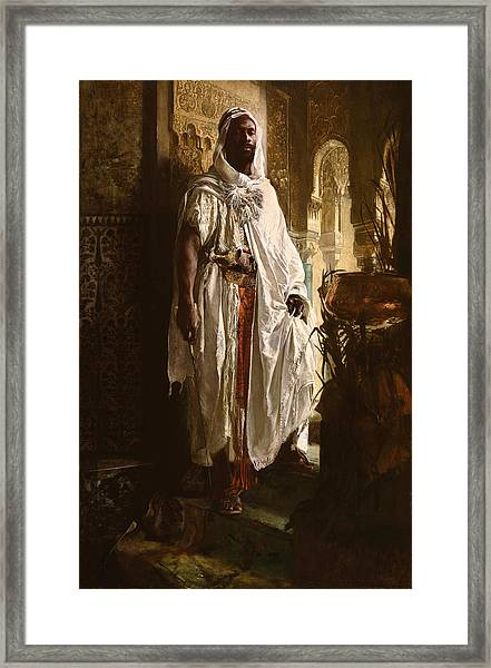 Framed Print featuring the painting The Moorish Chief by Eduard Charlemont