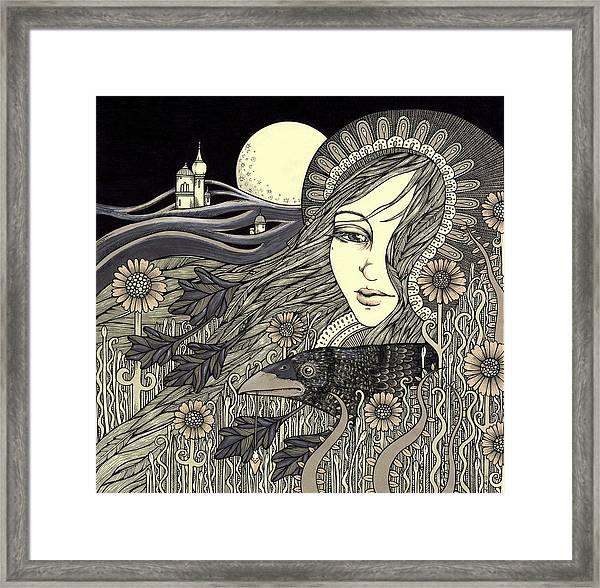 The Morrigan Framed Print by Anita Inverarity