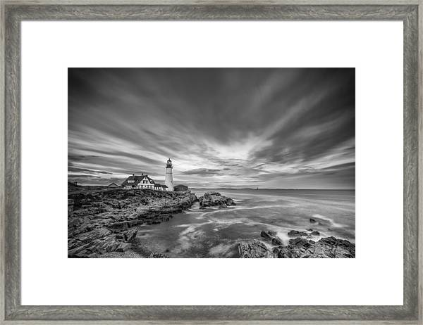 The Motion Of The Lighthouse Framed Print