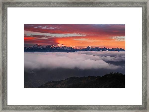 The Mountain Gods Framed Print by Karsten Wrobel